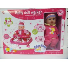 TUTU LOVE Baby doll Walker PLAY SET with 7 accessory set